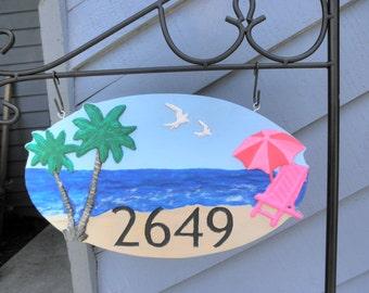 Custom address sign  Home address sign Address plaque Home decor Address sign House number with name address number sign Custom address