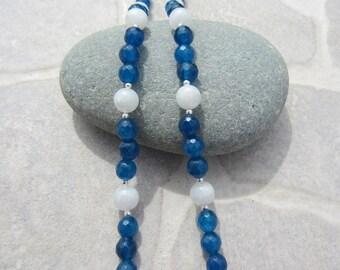 White labradorite apatite necklace
