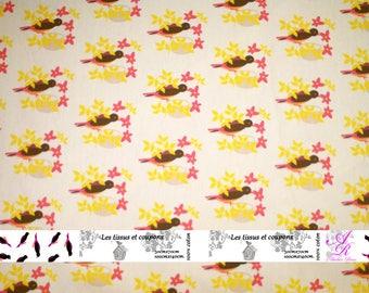 Creation of printed fabrics bird motifs