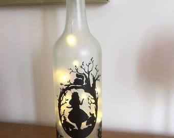 Alice in Wonderland light up bottle