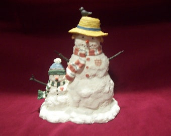 Sherri Buck Baldwin Snowmom and Pudge Figurine