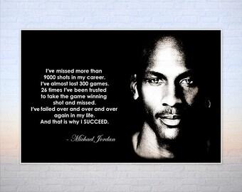 Michael Jordan Quote Poster or Canvas