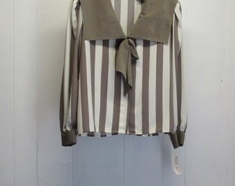 "Albert Nipon ""Sailor"" Style Blouse w/tags !      Size 12"