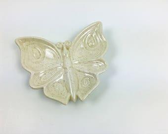 Vintage Boho Butterfly Ceramic Dish