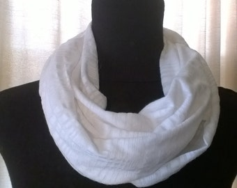 White stripes infinity scarf