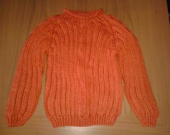 Orange Chunky Knit Sweater