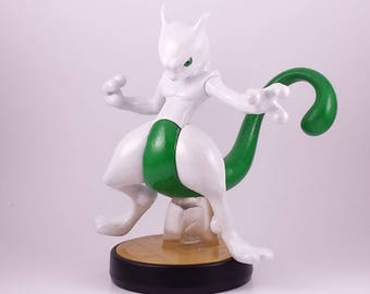 Shiny Mewtwo Custom amiibo (LED mod)