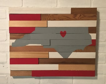 Ready to Ship - College Wall Hanging - North Carolina State