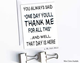 Funny Father's Day Card, Mother's Day, Mom or Dad Birthday, Parent Humor, Stepmom Cards