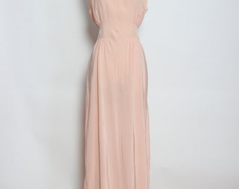 Vintage 1930s Silk and Lace Pink Nightgown