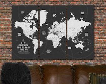 world travel map etsy
