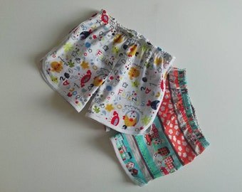 Retro Style Running Shorts 12mths - 8 yrs