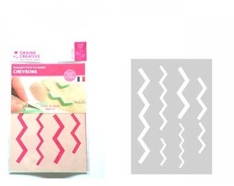Template designs polymer clay leather Chevrons: A5 Format