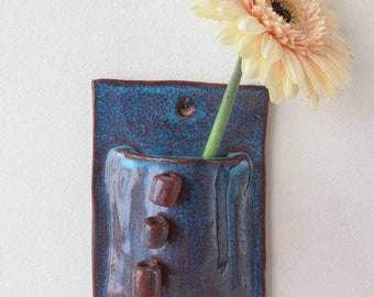 Hand made ceramic wall planter