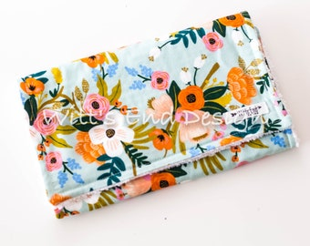 Lively Floral Burp Cloth, Modern Baby Girl  Burp Cloth Mix & Match-Super Absorbent Cotton Chenille, Burp Rag, burp pads-LIVELY FLORAL