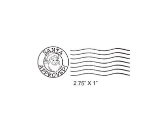 Santa Approved Post Mark Rubber Stamp 474