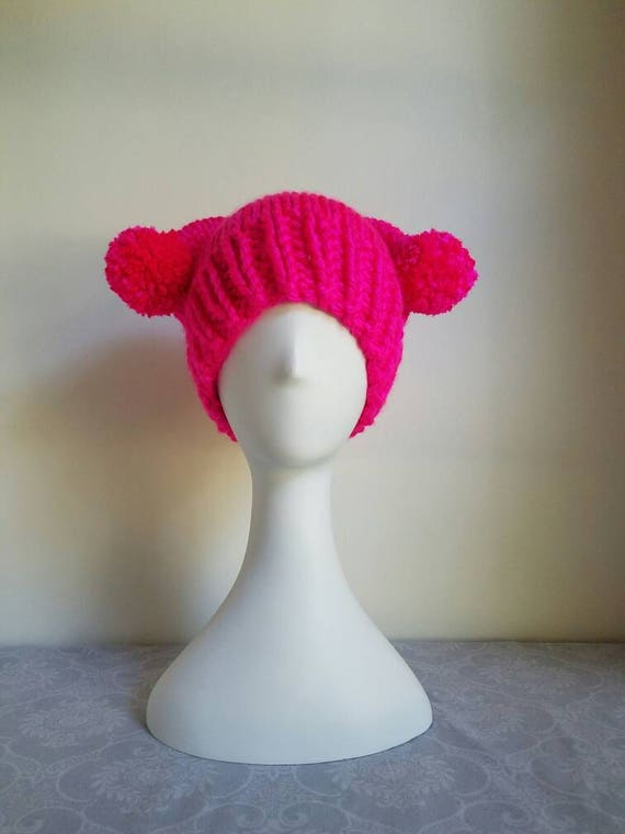 MeowGirl Pussyhat with Pompoms