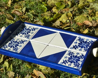 Talavera tile serving tray