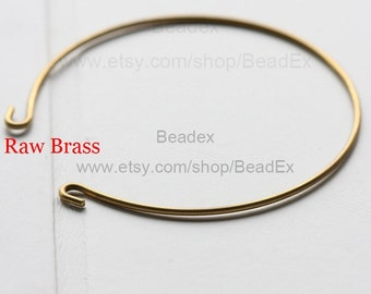 6 Pieces / Raw Brass / Bangle / 65*1.4mm (C1813//S4)
