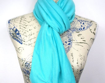 Blue Infinity Scarf Plain Scarf Women Spring Scarf Blue Scarves for Women Summer Scarf Inspirational Women Gift Mom from Daughter from Son