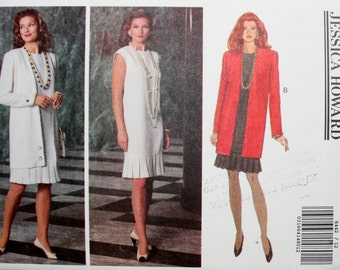 Butterick 6442 Misses' Jacket and Dress Sewing Pattern New / Uncut Size 12,14,16