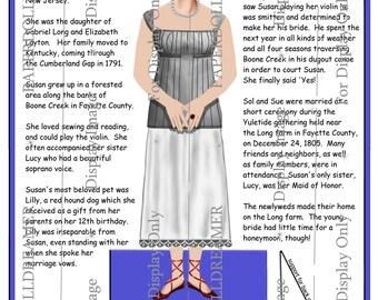 Printable Paper Doll – Susannah Long Kentuckiana Ancestor