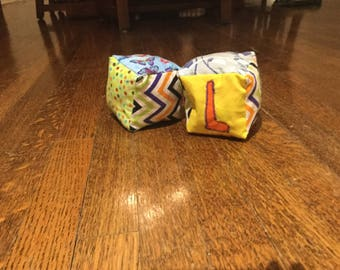 Soft cloth sensory blocks