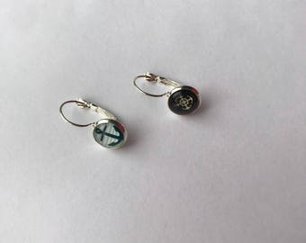 Nautical pattern earrings