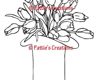 Top Hat With Tulips