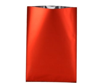 20, 50, 100 or 200 10x15cm or 15x25cm metallic shiny red gift box