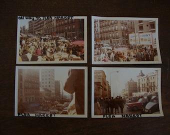 4 Lot Vintage FRENCH FLEA MARKET glossy Kodak Color Photos - Kodak Prints - Vintage Pictures - Vintage Photography - Old Photographs