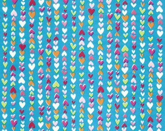 Sheet 30 x 40 cm - turquoise background N 410 - Ref FDA410 - hearts Decopatch until the stock!