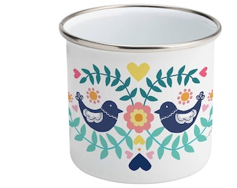 Folk Birds • Enamel Mug