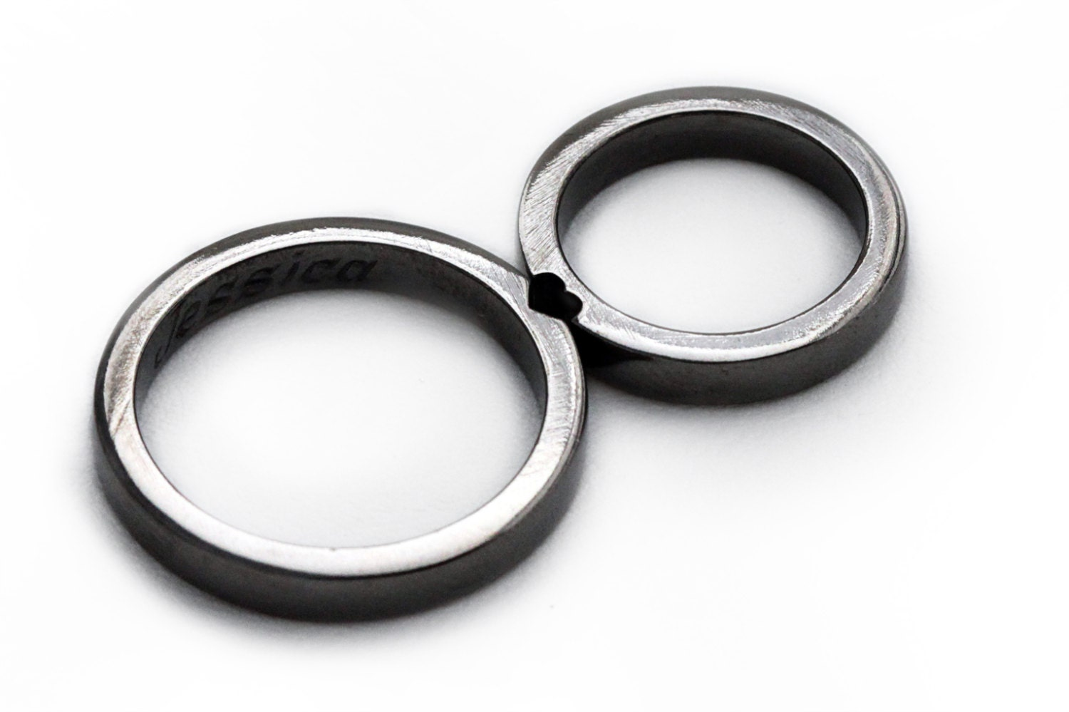 zoom - Black Wedding Ring Sets