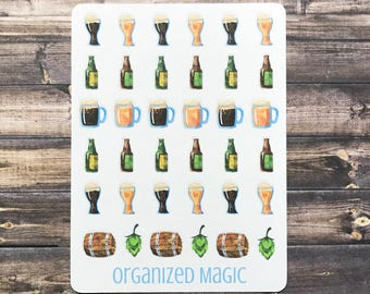 beer sticker, beer planner sticker, brewery sticker, night out planner sticker