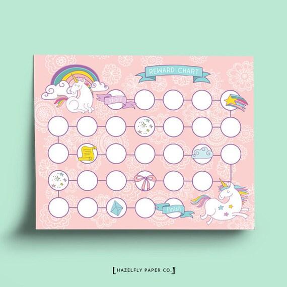 Printable Potty Training Chart: Printable Reward Chart Pink Unicorn Printable Potty Training