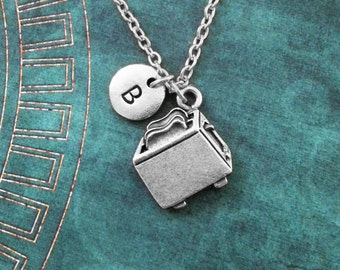 Toaster Necklace Toaster Gift Toast Necklace Toast Jewelry Personalized Jewelry Chef Gift for Mom Cooking Gift Food Jewelry Toaster Charm