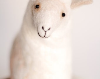 Felt Sheep - Ariadna, Easter gift Organic toy Gift for kids Felted Animals Baby shower gift  Plush Soft Toy Waldorf Toy Nursery decor.