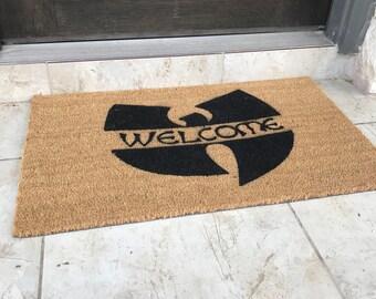 Standard Size Welcome Doormat / WuTang Mat / Coir door mat / hiphop decor / urban home decor/ housewarming/ father's day gift / gift for him