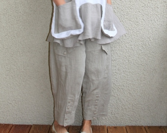 Eco friendly natural linen pants