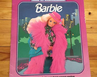 Vintage Barbie Paper Doll Book 1991, Uncut with Clothes, 10x13, Inv0857