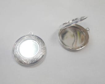Silver 1 pendant cabochon glass 20 that s open size 36 x 32