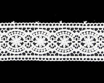 White Venice Lace - Insertion - Elizabethan Renaissance - Victorian