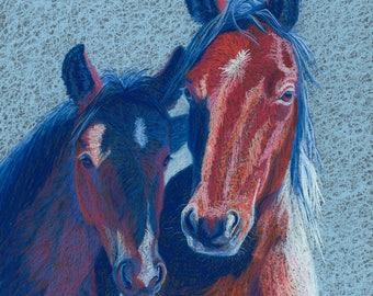 Mrs. America - wild horses, matted fine art photo print