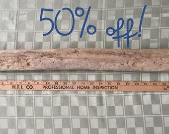 One long piece of Lake Michigan driftwood