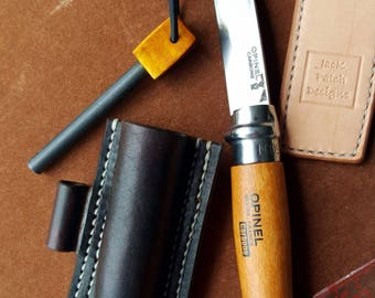 Opinel Leather Sheath, Opinel Sheath, Leather Knife Sheath, Bushcraft Knife & Sheath, Knife Holster, Opinel, Knives, Knife, Opinel Sheath