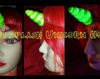 Citrus splash unicorn  horn featherweight uv reactive