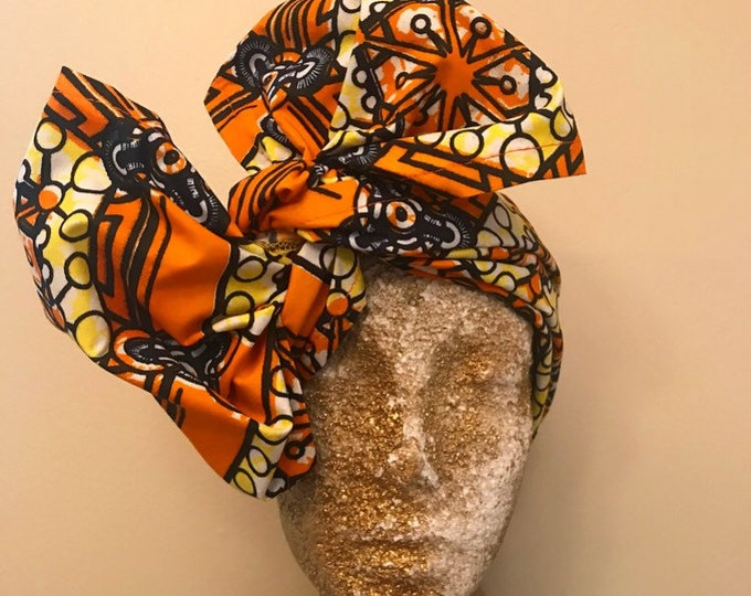 Orange Half Head Wrap
