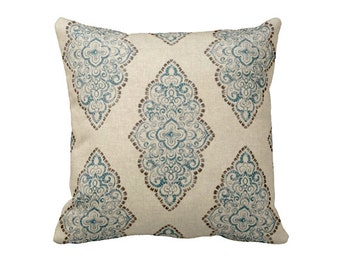 6 Sizes Available: Blue Decorative Throw Pillow Cover Blue Pillow Accent Pillow 12x16 18x18 20x20 22x22 24x24 Inches