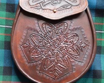 Stunning Hand Crafted Celtic Cross Scottish Sporran.
